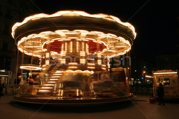 classical french carousel Stock photo © mtoome