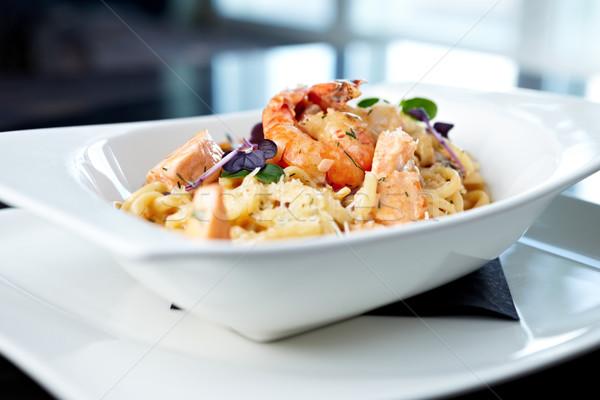 Seafood pasta Stock photo © mtoome