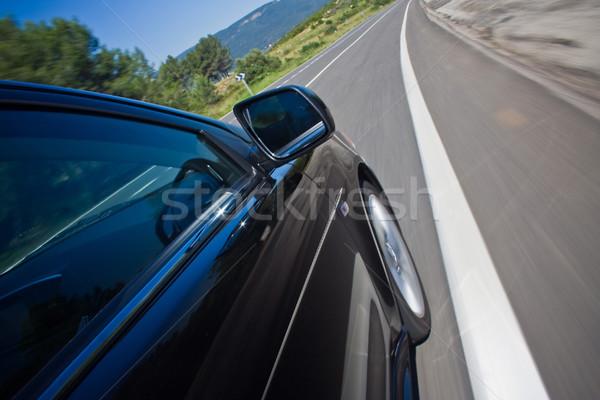 Araba sürücü hızlı yol siyah güç Stok fotoğraf © mtoome