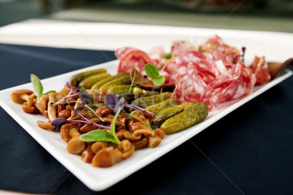 водка выбора итальянский мяса грибы Сток-фото © mtoome
