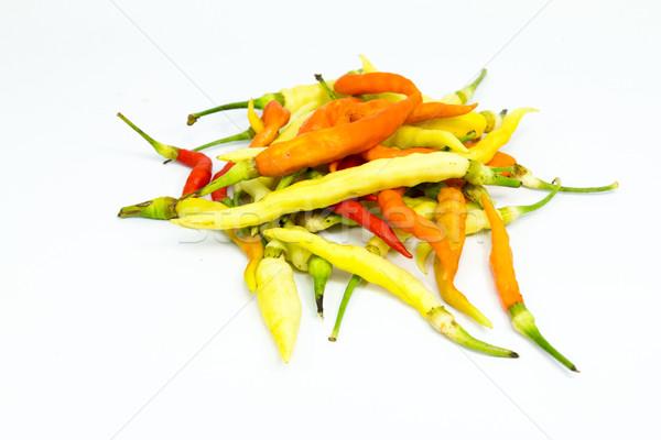 Taze biber beyaz gıda sağlık yeşil Stok fotoğraf © muang_satun