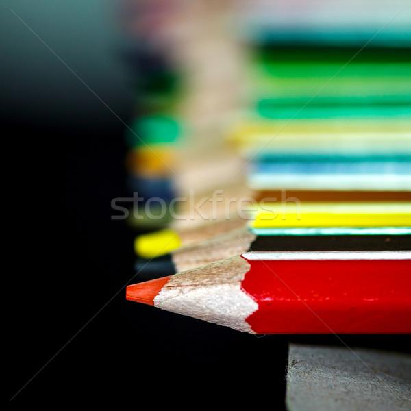 Renk renk kullanılmış çizim güzel resimleri Stok fotoğraf © muang_satun