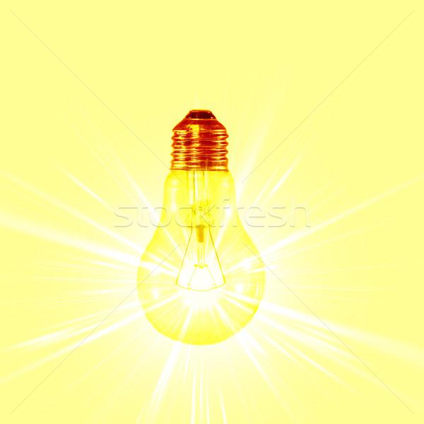 Lamba ışık cam bilim renk güç Stok fotoğraf © muang_satun