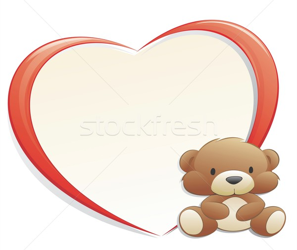 Teddy Bear with Heart-shaped Frame Stock photo © mumut