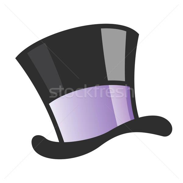Mago Hat nero disegno grafica cartoon Foto d'archivio © mumut