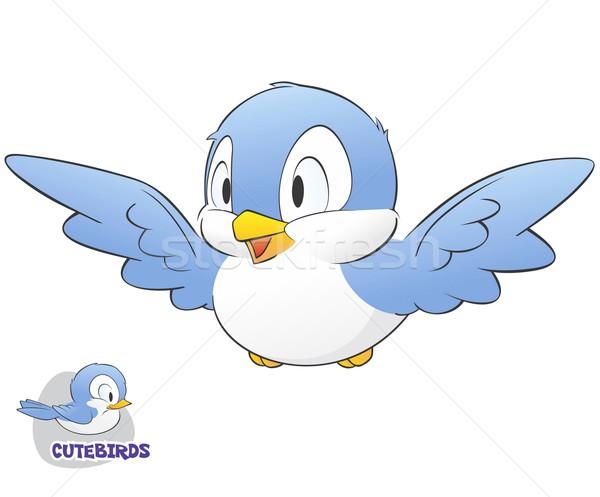 Cute Cartoon aves fácil primavera Foto stock © mumut