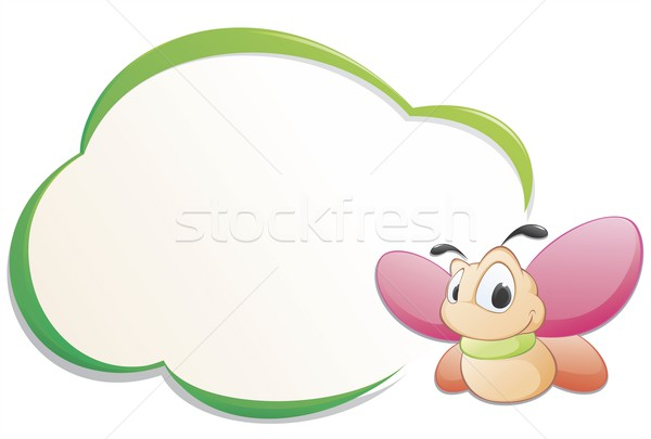Cute Cartoon mariposa marco aislado objeto Foto stock © mumut