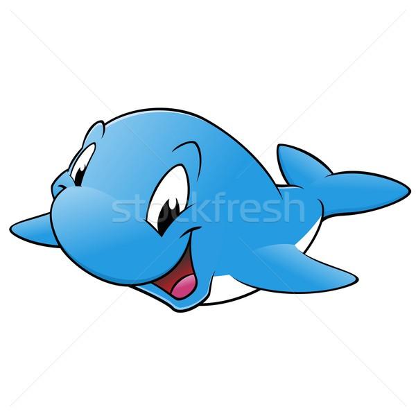 Felice balena sorridere blu sorriso bambini Foto d'archivio © mumut