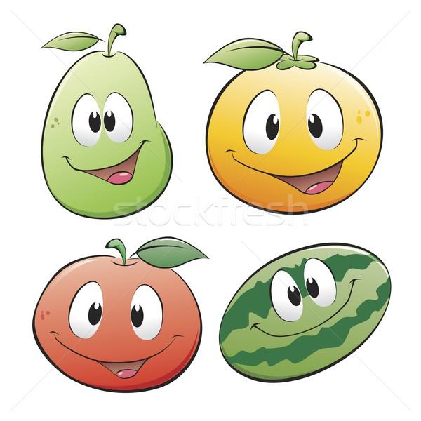 Cute cartoon frutta frutti oggetti isolati Foto d'archivio © mumut