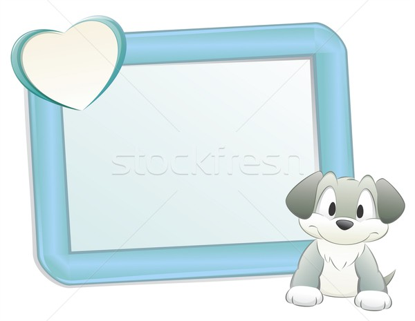 Cartoon Dog with Frame Stock photo © mumut