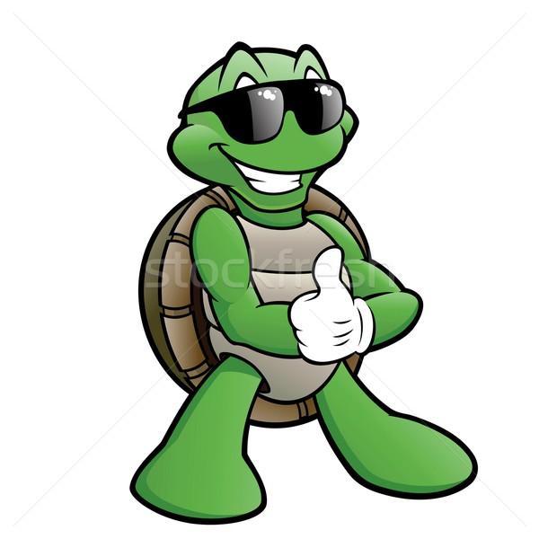 Sonriendo tortuga Cartoon gafas de sol sonrisa Foto stock © mumut