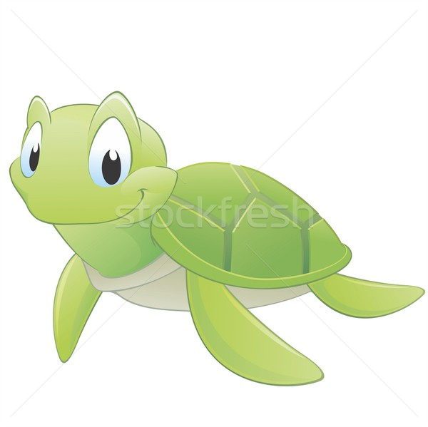 Cartoon tortue cute facile heureux océan Photo stock © mumut