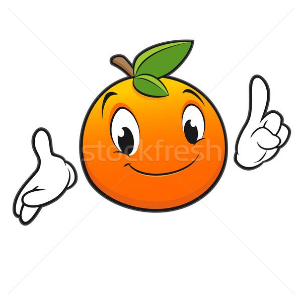 Cartoon arancione frutta kid succo Foto d'archivio © mumut