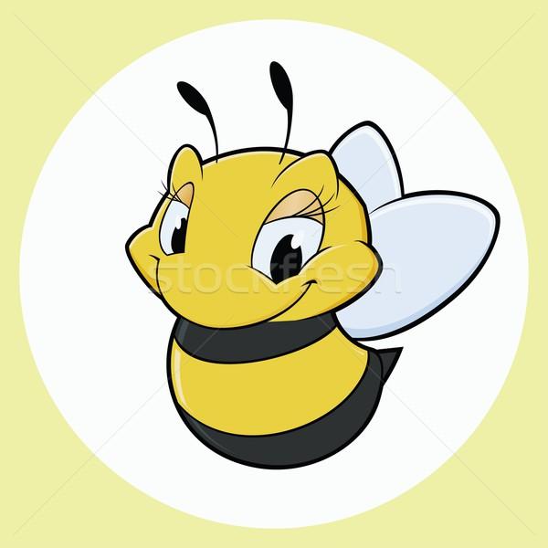 Foto d'archivio: Cartoon · ape · sorriso · kid · disegno · insetto