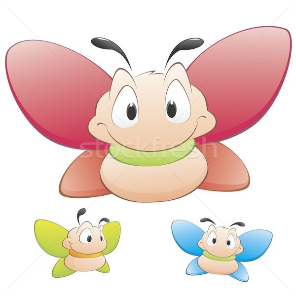 Cartoon farfalle tre vettore oggetti isolati Foto d'archivio © mumut