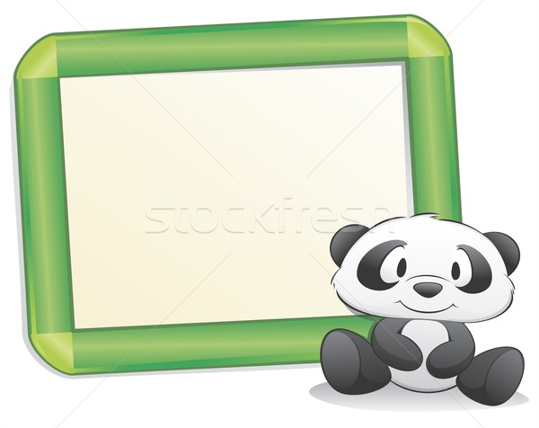 Cartoon panda frame geïsoleerd object Stockfoto © mumut