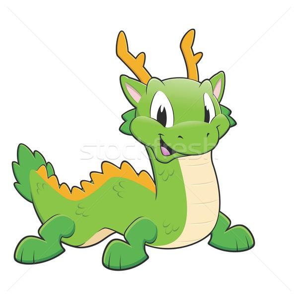Green chinese dragon Stock photo © mumut