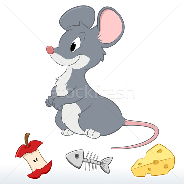 Cute cartoon mouse facile bambini Foto d'archivio © mumut