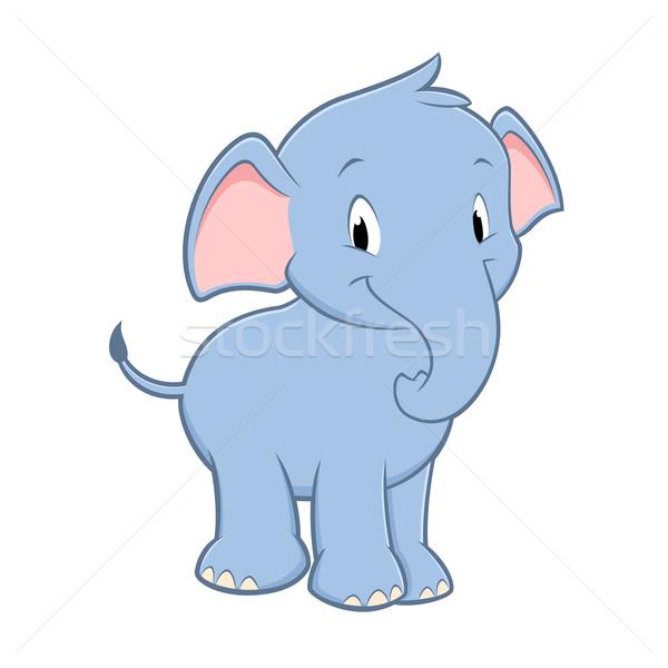 Cartoon bebé elefante cute nino Foto stock © mumut