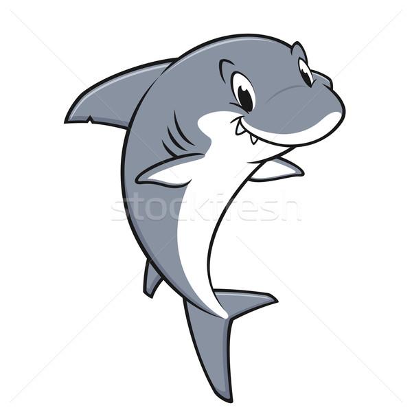 Cartoon amichevole squalo sorridere mare Foto d'archivio © mumut