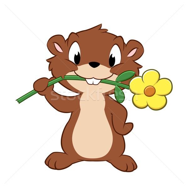 Cartoon giardino fiore Daisy kid animale Foto d'archivio © mumut
