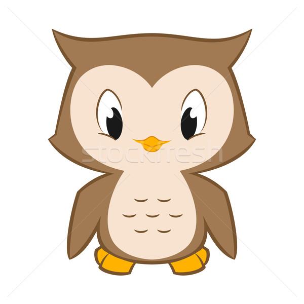 Pequeño búho vector Cartoon ilustración cute Foto stock © mumut