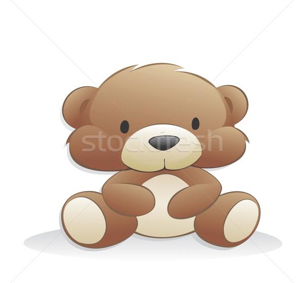 Cute cartoon orsacchiotto orso oggetti isolati Foto d'archivio © mumut