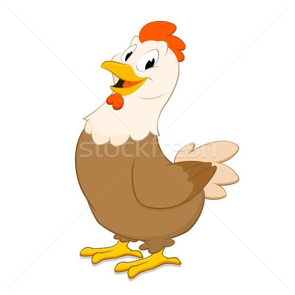 Cartoon gallina isolato oggetto sorriso Foto d'archivio © mumut