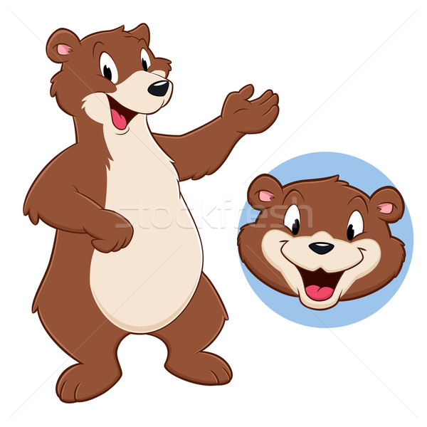 Cartoon orso divertente kid animale Foto d'archivio © mumut