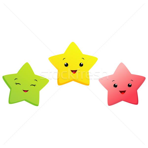 Piccolo stelle cartoon verde notte Foto d'archivio © mumut