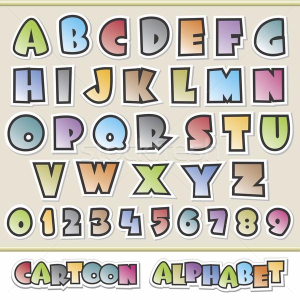 Cartoon alfabeto colorato design elementi Foto d'archivio © mumut