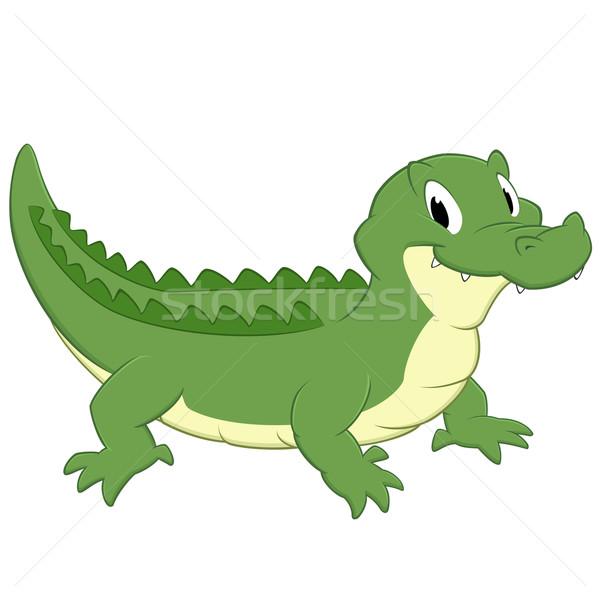 Cartoon cocodrilo aislado objeto sonrisa Foto stock © mumut