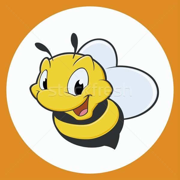 Cartoon abeja sonrisa nino dibujo insectos Foto stock © mumut