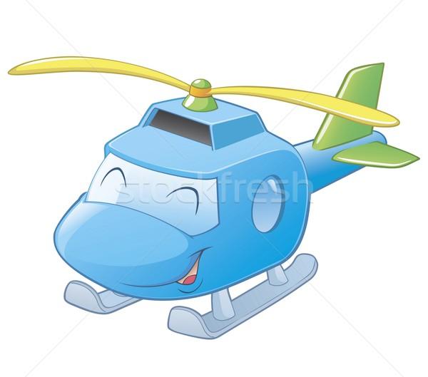 Cartoon вертолета легкий улыбка детей Сток-фото © mumut