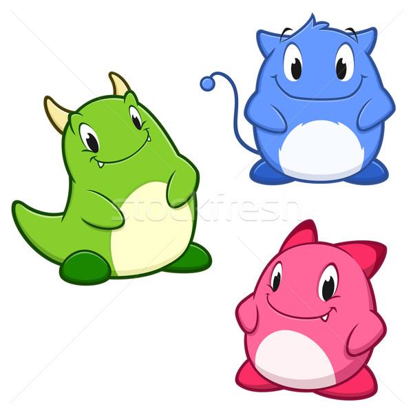 Cute mostri cartoon verde giocattolo Foto d'archivio © mumut