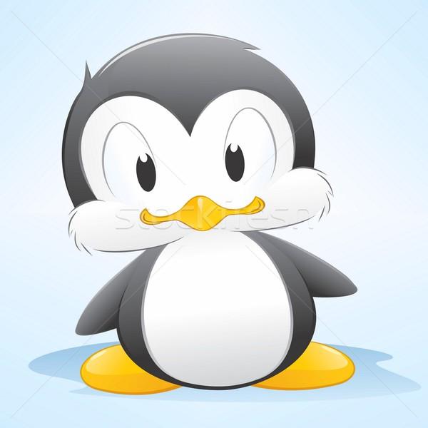 Cartoon pingüino cute fácil bebé Foto stock © mumut