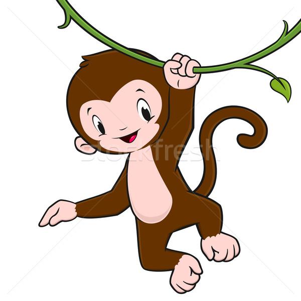 Cartoon scimmia baby impiccagione vite Foto d'archivio © mumut