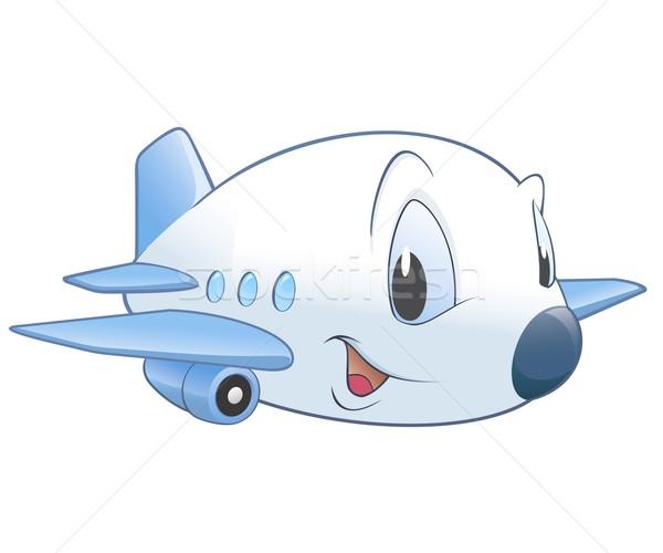 Cartoon vliegtuig cute geen helling doorzichtigheid Stockfoto © mumut