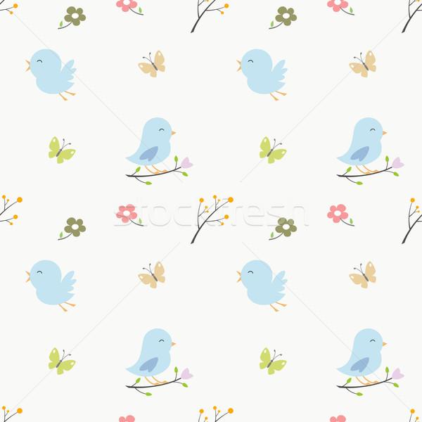 Cartoon aves suave cute Foto stock © mumut