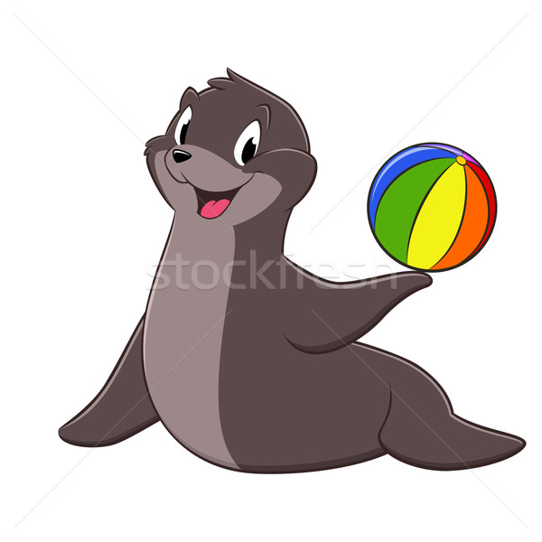 Cartoon Sea Lion Stock photo © mumut