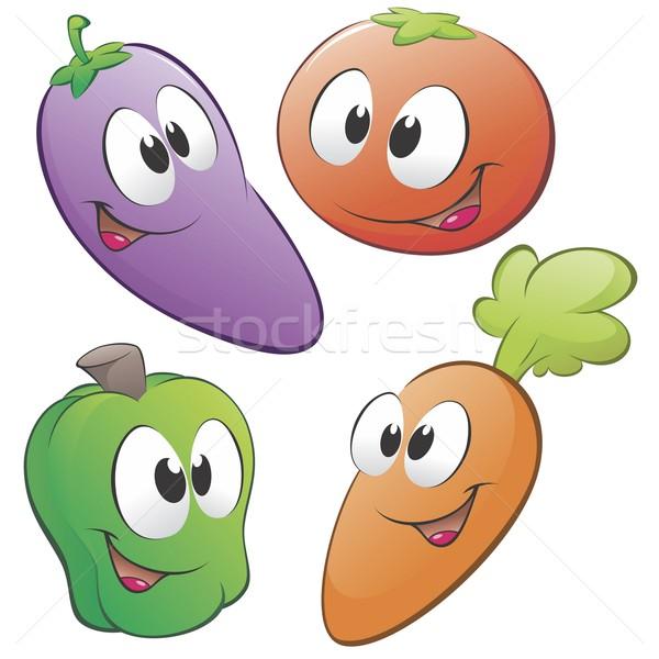 Cartoon verdura set oggetti isolati alimentare Foto d'archivio © mumut