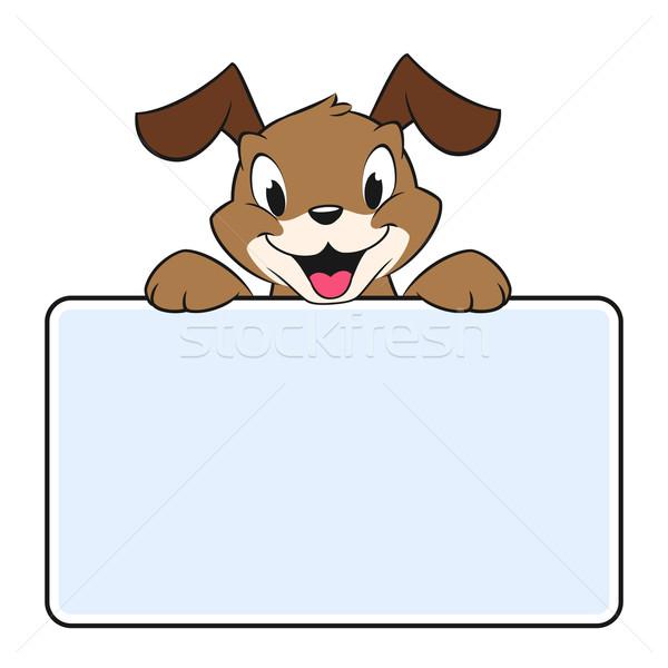 Cartoon banner perro ninos tarjeta Foto stock © mumut