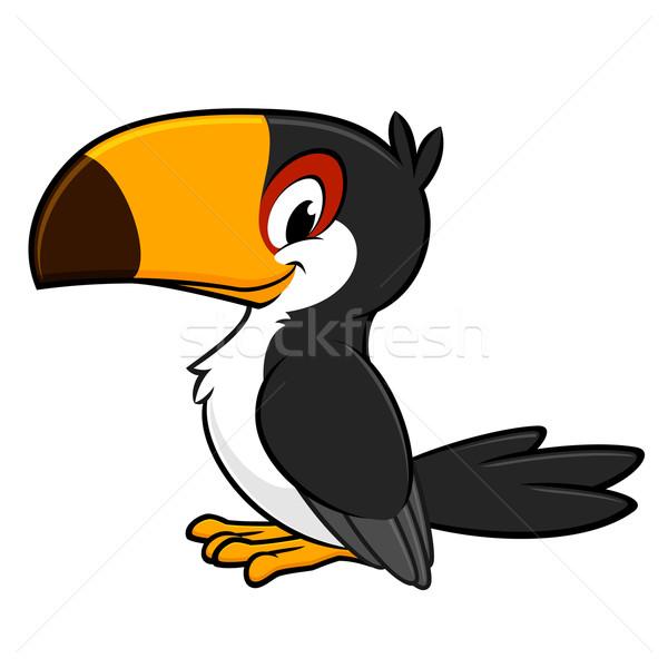 Cartoon sonriendo aves negro nino Foto stock © mumut
