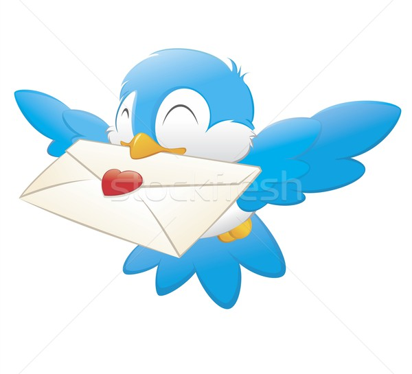 Cartoon Bird Carrying Love Letter Stock photo © mumut