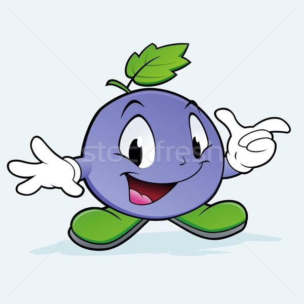 Uva Berry cartoon mirtillo kid Foto d'archivio © mumut