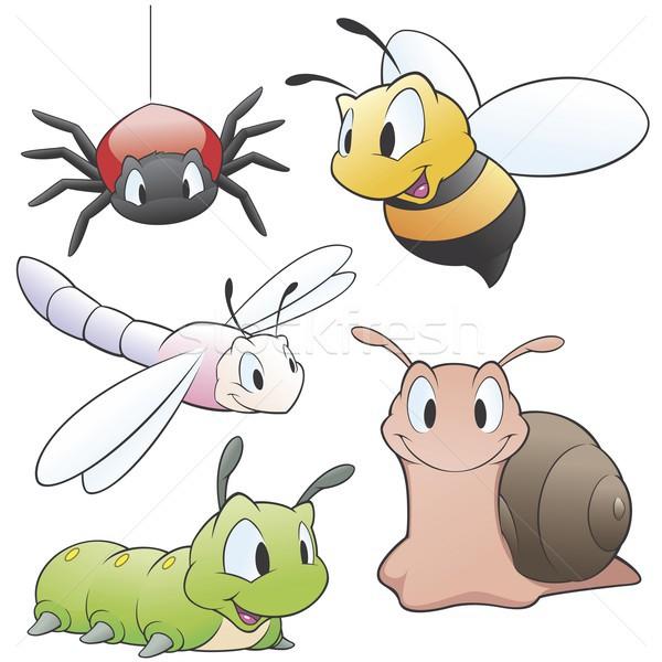 Cartoon insetti set giardino animali design Foto d'archivio © mumut