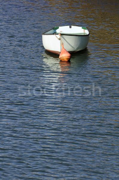 Foto stock: Pequeno · barco · porta · água · mar