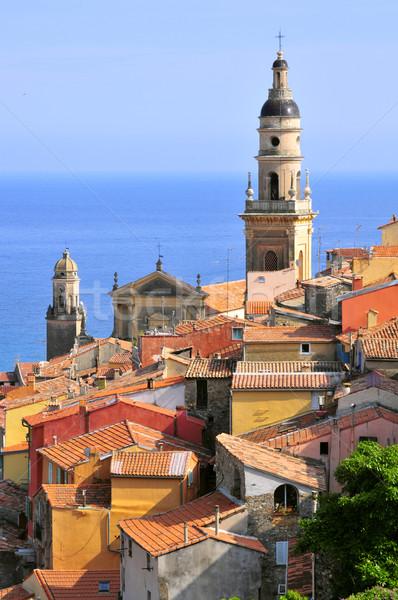 Kasaba Fransa görmek liman bazilika Stok fotoğraf © Musat