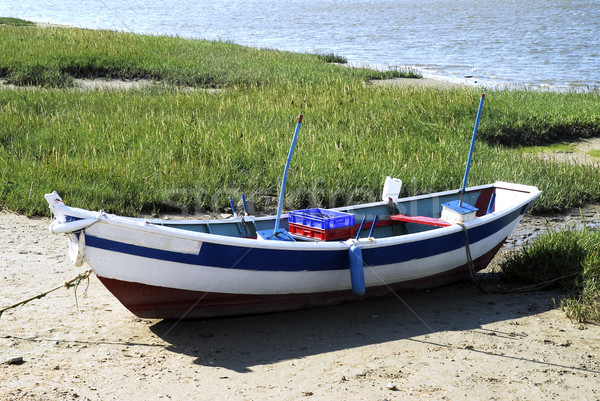 Fishing small boat at low tide  Stock photo © Musat