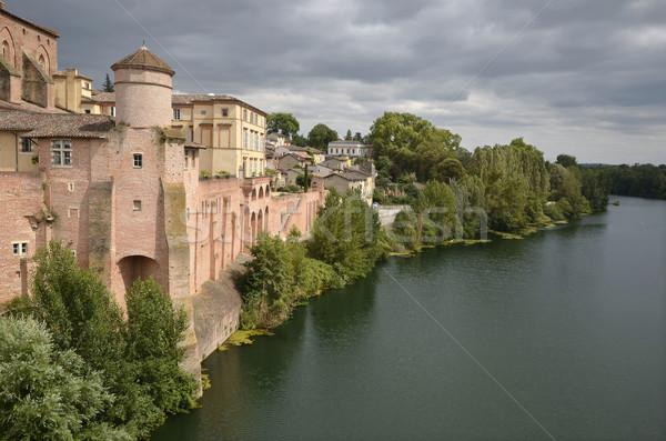 Town of Gaillac in France Stock photo © Musat